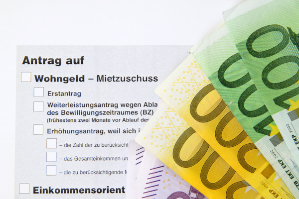 Antrag auf Wohngeld